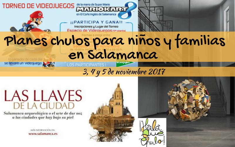 Agenda HQC del 3, 4 y 5 de noviembre de planes infantiles y familiares en Salamanca