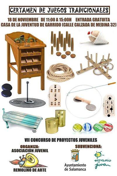 Certamen de juegos tradicionales para toda la familia con Remolino de Arte en Salamanca