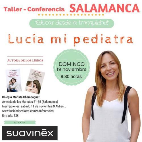 Taller-conferencia de Lucía mi pediatra en Salamanca
