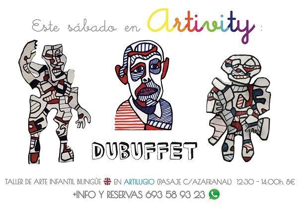 Dubuffet en el Artivity, taller infantil de arte en inglés en Salamanca