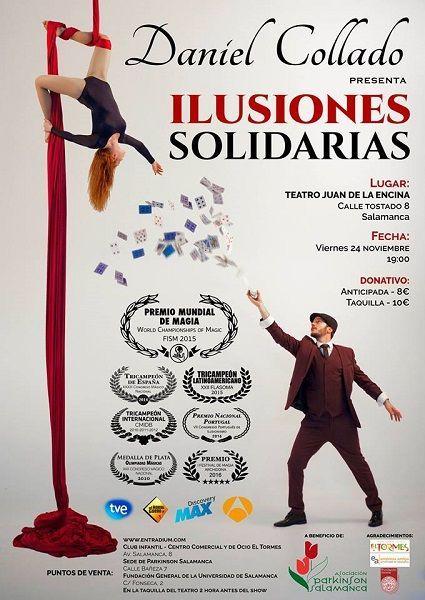 Espectáculo de magia a favor de la Asociación de Párkinson Salamanca
