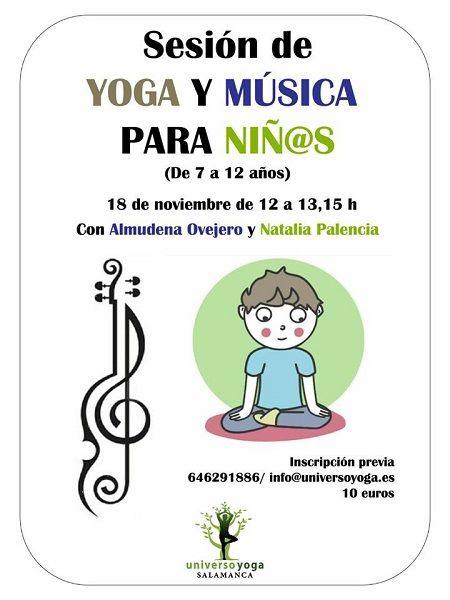 Sesión infantil de yoga y música en Universo Yoga