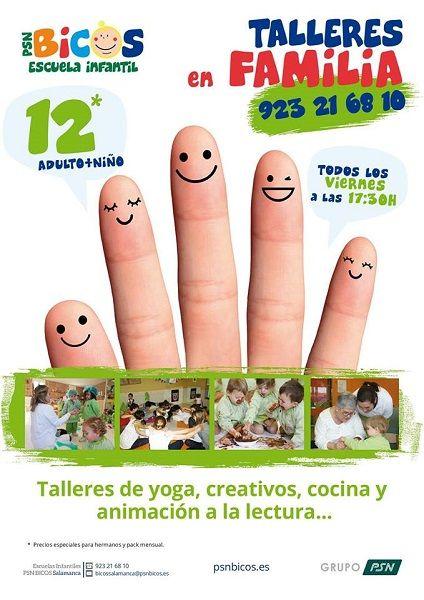Talleres en familia en PSN Bicos en Salamanca