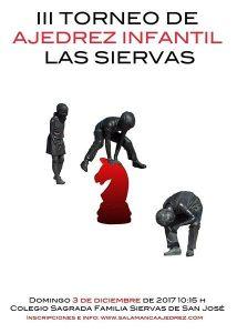 Torneo de ajedrez infantil en el Colegio Las Siervas de Salamanca