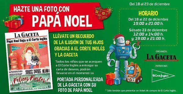 Llévate la portada de La Gaceta con tu foto y Papá Noel