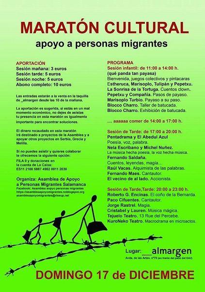 Maratón Cutural organizado por la Asamblea de Apoyo a las Personas Migrantes en Al Margen