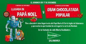 Papá Noel visita El Corte Inglés de Salamanca