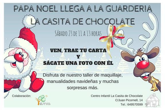 Papá Noel visita la guardería La Casita de Chocolate