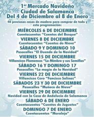 Programa del I Mercado Navideño Ciudad de Salamanca