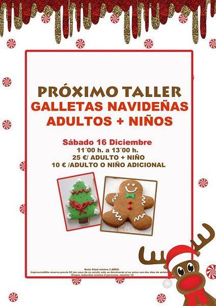 Taller familiar de galletas de Navidad en Tarty Party