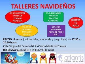 Talleres infantiles de Navidad en la Ludoteca Atlantis de Santa Marta de Tormes
