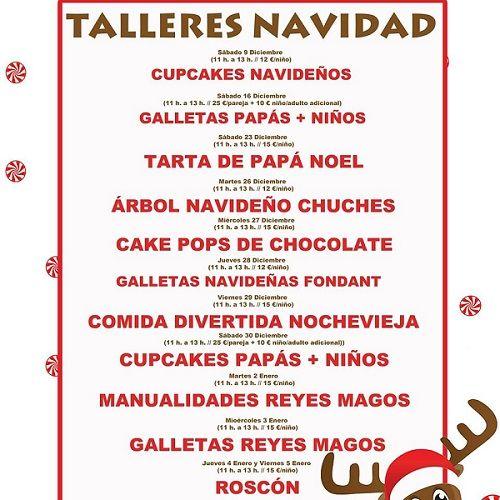 Talleres infantles de repostería en Navidad de Tarty Party