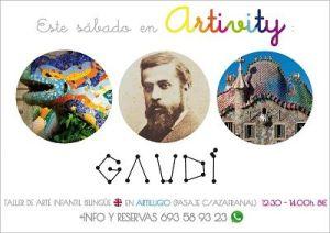 Gaudí en el taller infantil de arte en inglés, Artivity
