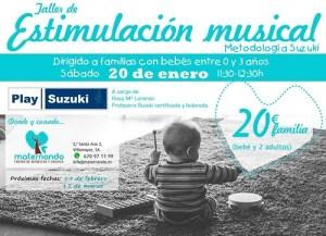 Taller de estimulación musical con el método Suzuki en Maternando