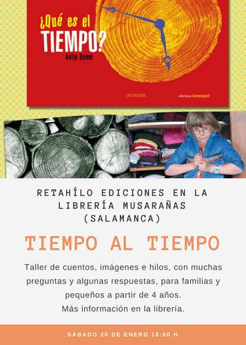 Taller de cuentos en la librería Musarañas, con Retahílo Ediciones
