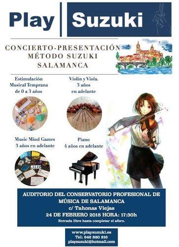 Concierto presentación del Método Suzuki en Salamanca