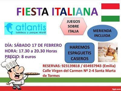 Fiesta italiana en la ludoteca Atlantis