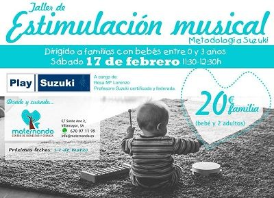 Taller de estimulación musical en Maternando