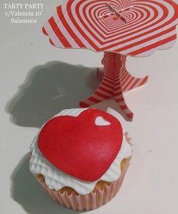 Taller intergeneracional de cupcakes de San Valentín en Tarty Party