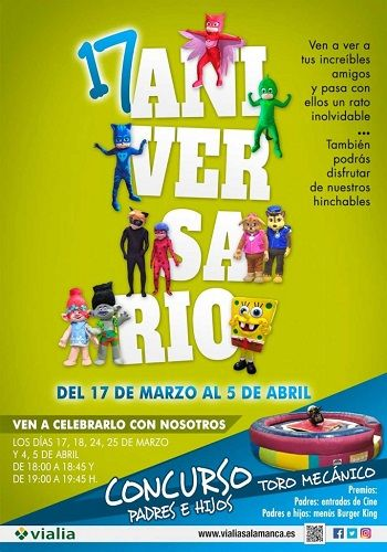 Celebra el 17º Aniversario de Vialia Salamanca con un montón de actividades divertidas