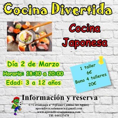 Taller de cocina divertida y japonesa en Aprendiver