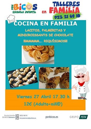Taller de cocina en familia en Bicos
