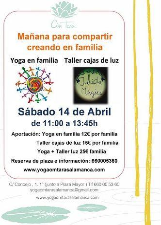 Taller de yoga y cajas de luz en familia en el Centro de Yoga y Meditación Om Tara