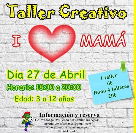 Taller infantil creativo en Aprendiver por el Día de la Madre
