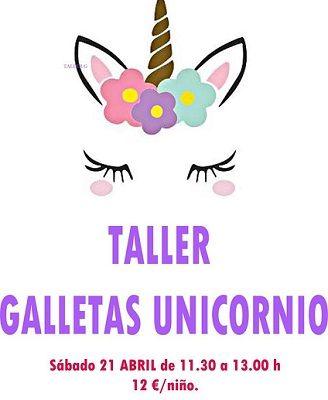 Taller infantil de galletas de unicornio en Tarty Party