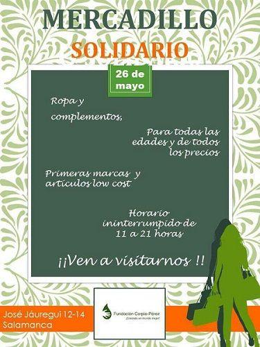 Mercadillo Solidario a favor de la Fundación Carpio Pérez