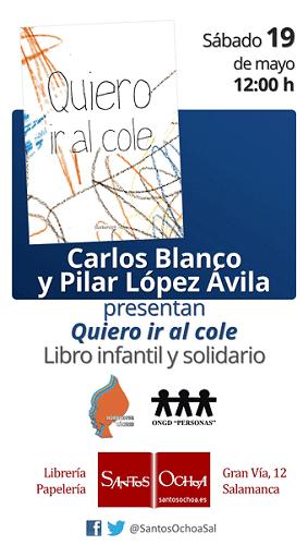 Presentación de un libro infantil y solidario en la librería Santos Ochoa Salamanca