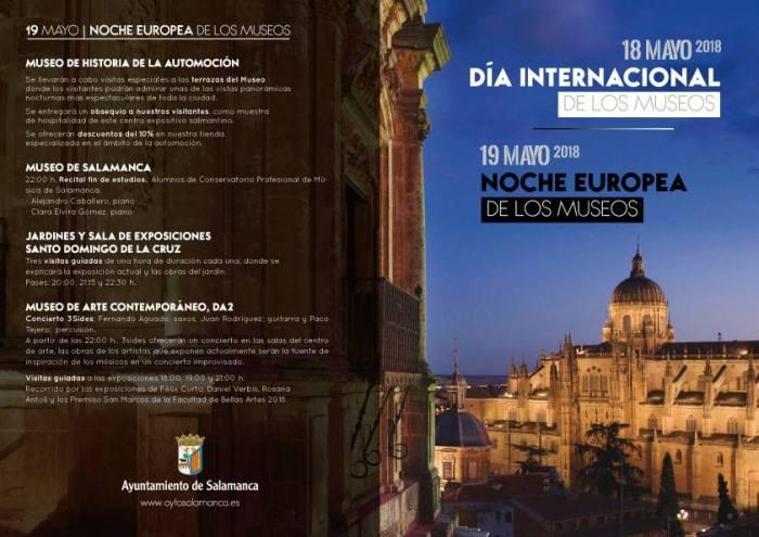Programación de la Noche Europea de los Museos en Salamanca
