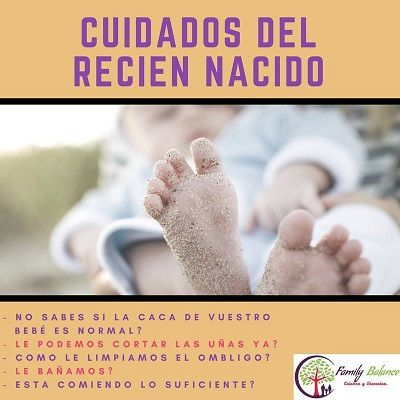 Taller de cuidados del recién nacido en Family Balance
