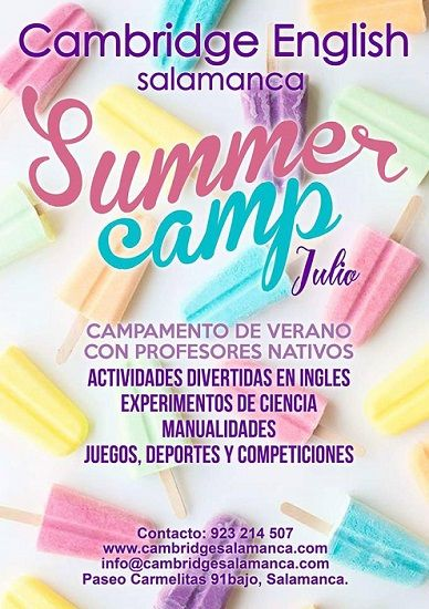 Campamento de verano en Cambridge English Salamanca