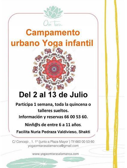 Campamento urbano de yoga infantil en el Centro de Yoga Om Tara