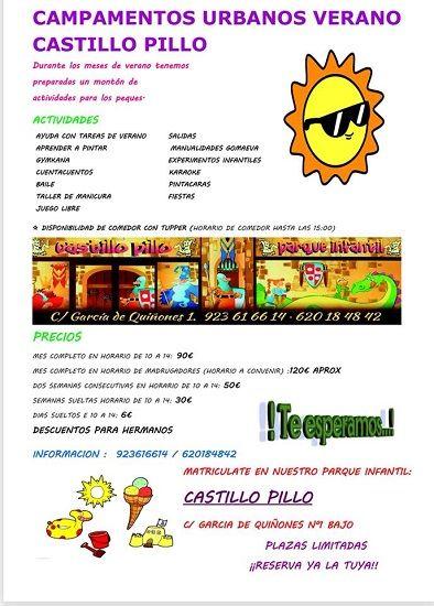 Campamento urbano en El Castillo Pillo