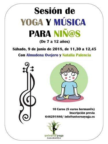 Sesión de yoga infantil y música en Universo Yoga