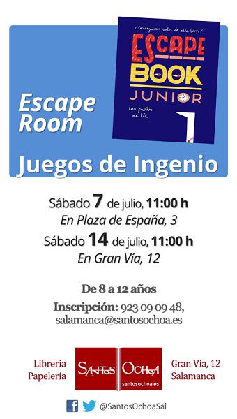 Escape Romm en la librería Santos Ochoa