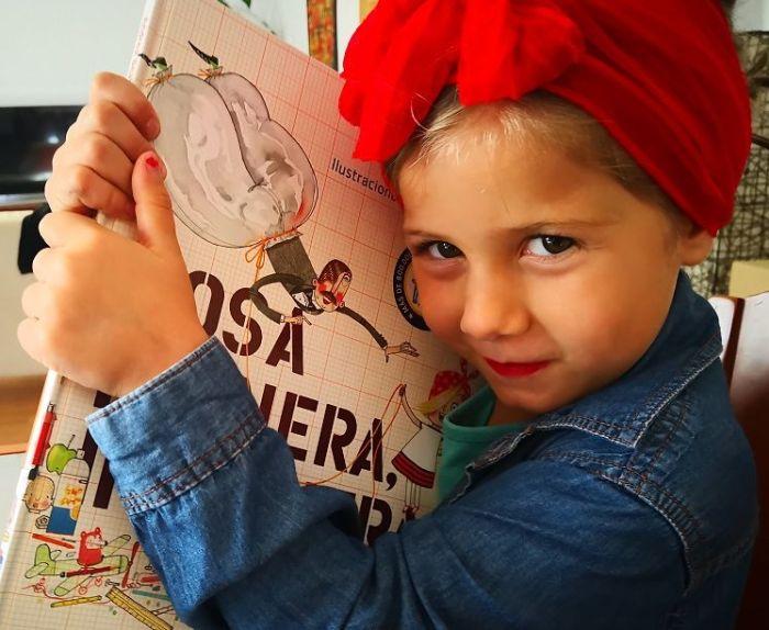 """Elsa encantada con su """"Rosa pionera, ingeniera!"""