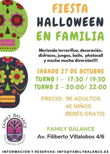 Fiesta familiar de Halloween en Family Balance
