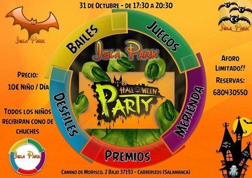 Fiesta de Halloween en Isla Park de Cabrerizos