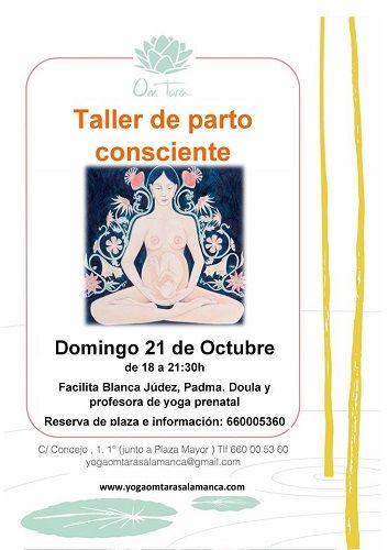 Taller de parto consciente en el Centro de Yoga Om Tara de Salamanca