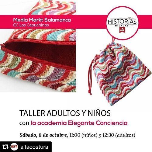Talleres de costura con Elegante Conciencia en Salamanca