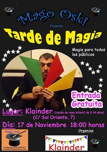 Taller de magia en Klainder con el Mago Oski