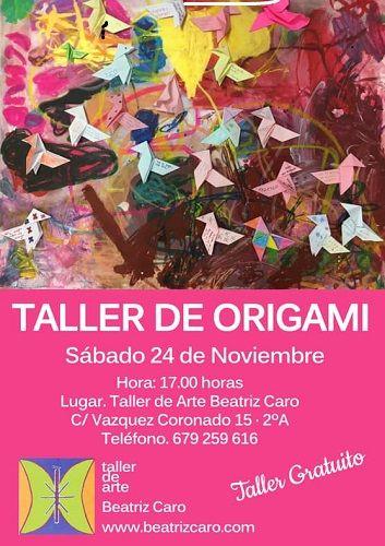 Taller de origami en el Espacio Creativo Infantil Beatriz Caro