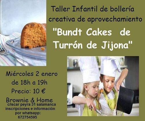 Taller infantil de Bundt cakes de turrón de jijona