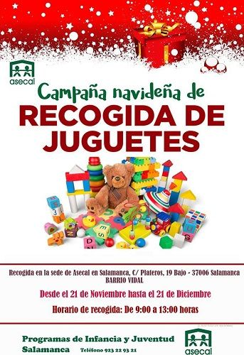 Campaña navideña de recogida de juguetes en Asecal