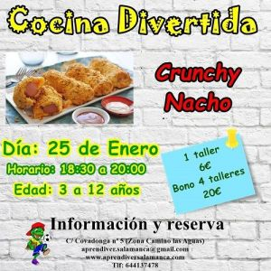 Taller infantil de cocina divertida en Aprendiver Salamanca