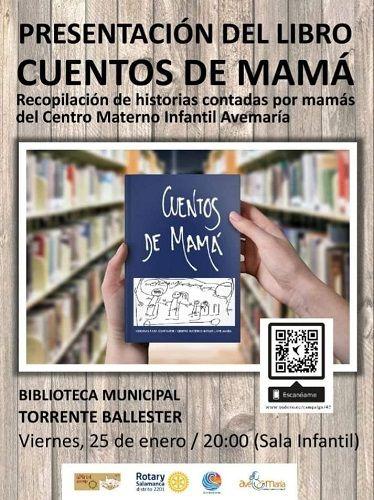"""Presentación del libro """"Cuentos de mamá"""" en la biblioteca Torrente Ballester"""