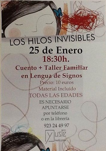 Cuento y taller familiar en lengua de signos en la librería Yuste de Salamanca
